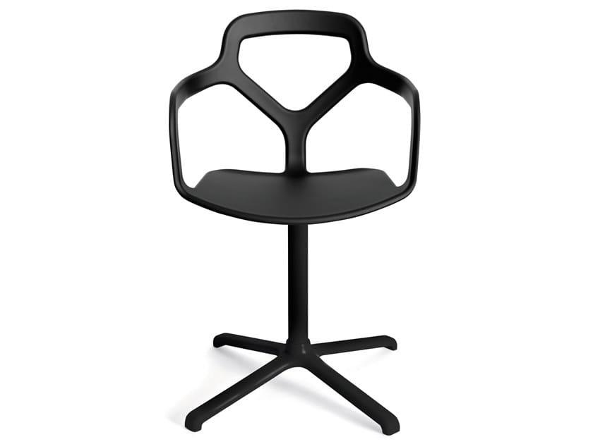 Swivel technopolymer chair with 4-spoke base TRACE   Swivel chair by Desalto