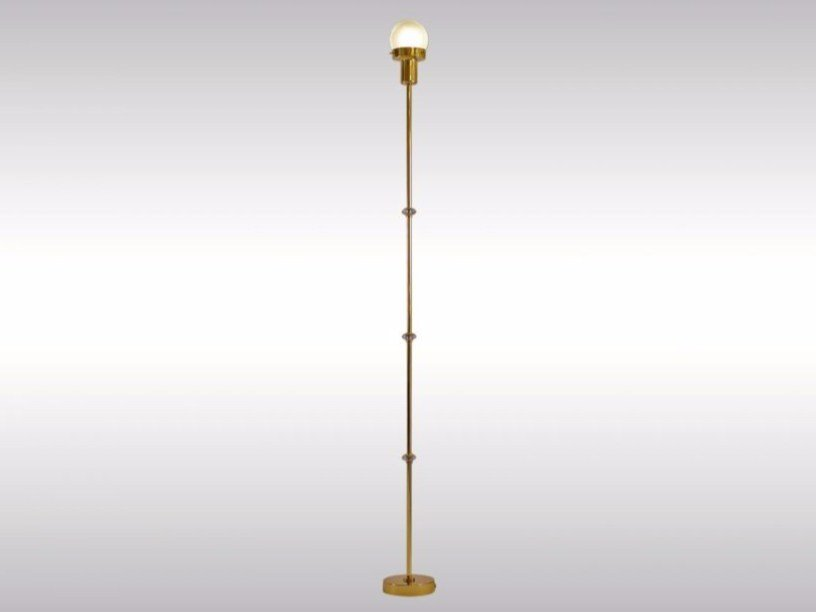 Brass floor lamp TRACK by Woka Lamps Vienna