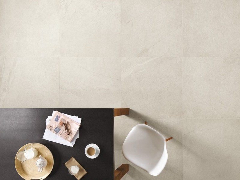 Porcelain stoneware wall/floor tiles with stone effect TRACKS WHITE by CERAMICA FONDOVALLE