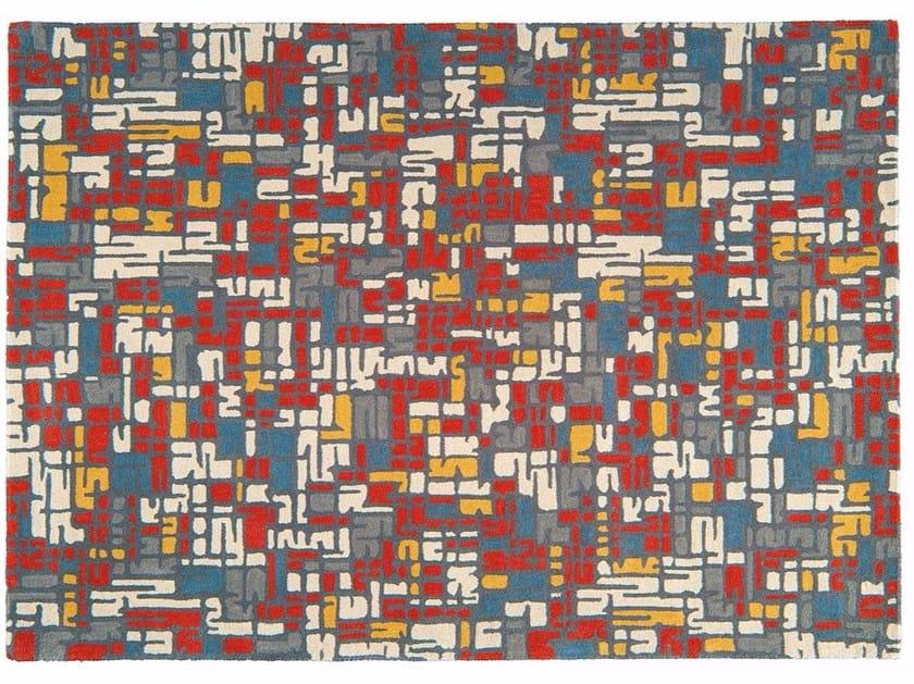 Patterned rectangular wool rug TRAFFIC by Toulemonde Bochart