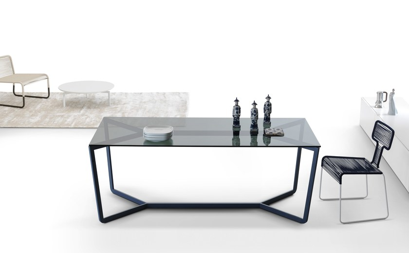 Rectangular crystal dining table TRAIL by MY home collection