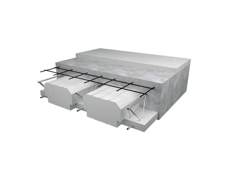 Formwork panel and lightening element for floor slab TRALIPOR by Poron