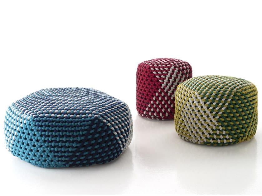 Polyester garden pouf TRAMAE by B&B Italia Outdoor