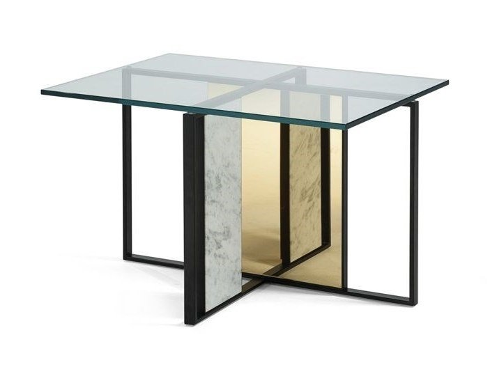 Rectangular glass coffee table TRAME | Glass coffee table by ROCHE BOBOIS