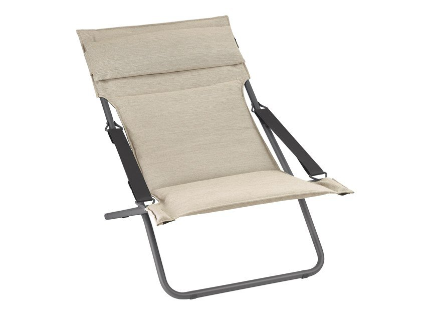 Folding deck chair with armrests TRANSABED by Lafuma Mobilier