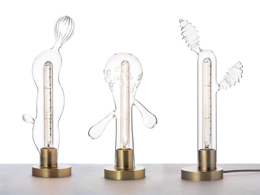 Direct light glass table lamp TRANSGENIC LIGHTS by Secondome Edizioni