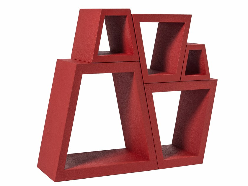 Poly Mass® bookcase / bottle rack TRAPEZ by Be Different