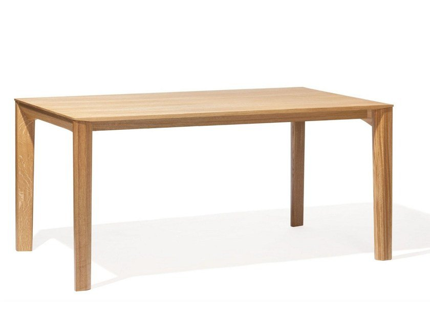 Rectangular English oak dining table TRAPEZ by TON