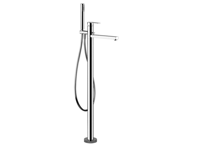 Floor standing bathtub mixer with hand shower TRASPARENZE 24963 by Gessi