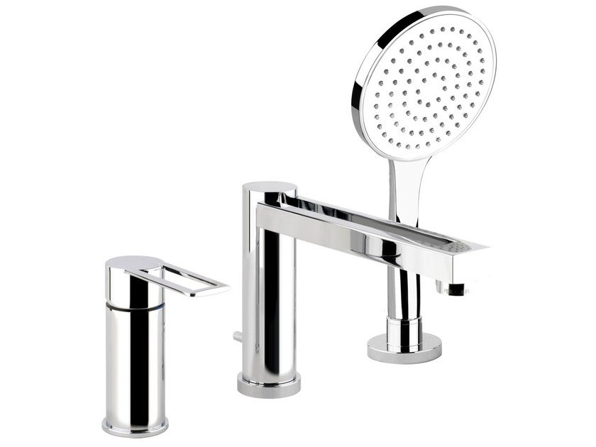 Bathtub mixer with hand shower TRASPARENZE 34234 by Gessi