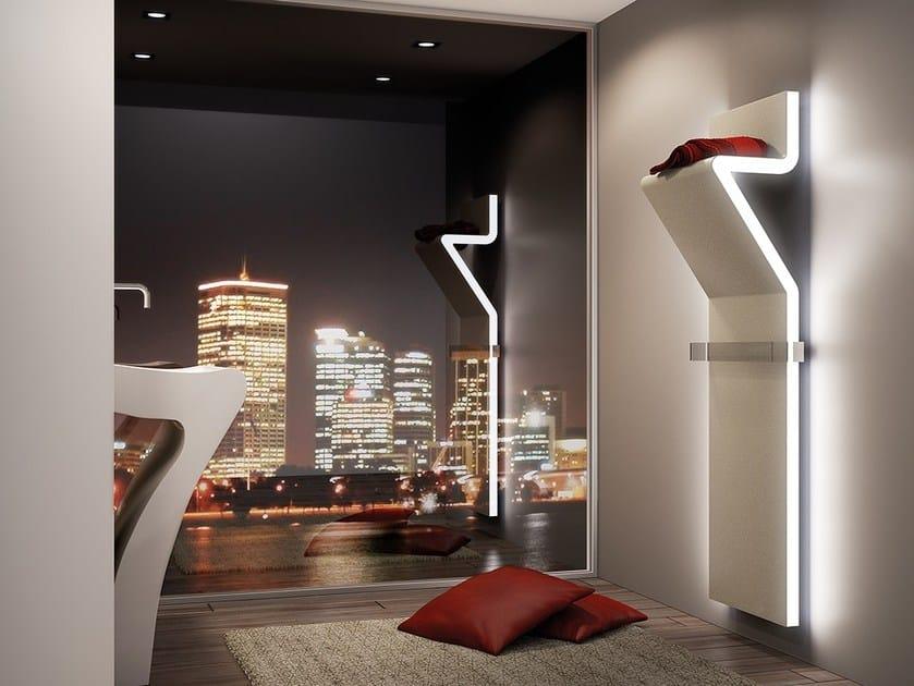 Wall-mounted steel towel warmer TRATTO | Towel warmer by IRSAP