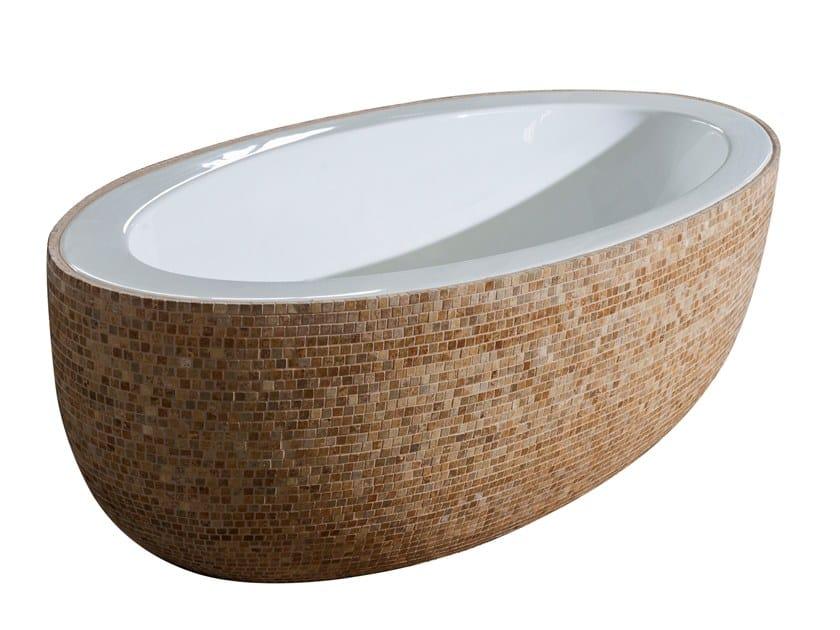 Freestanding oval bathtub TRAVERTINE | Bathtub by Saikallys