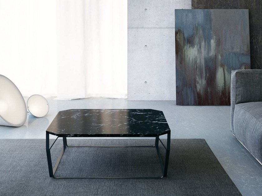 Low coffee table TRAY 2   Marble coffee table by meme design