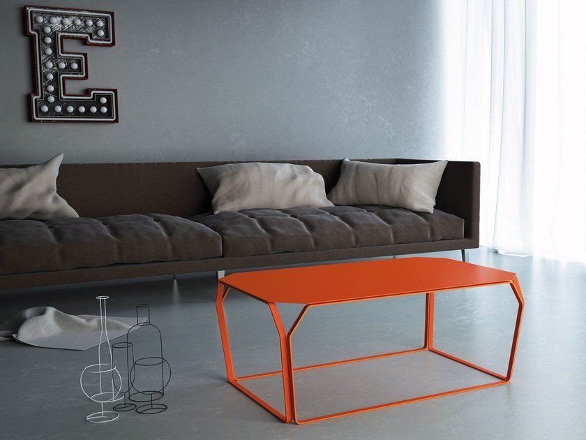 Metal coffee table TRAY 3 | Metal coffee table by meme design