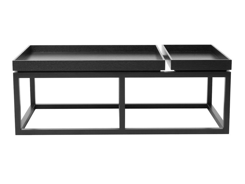Rectangular Coffee Table With Tray By Norr11