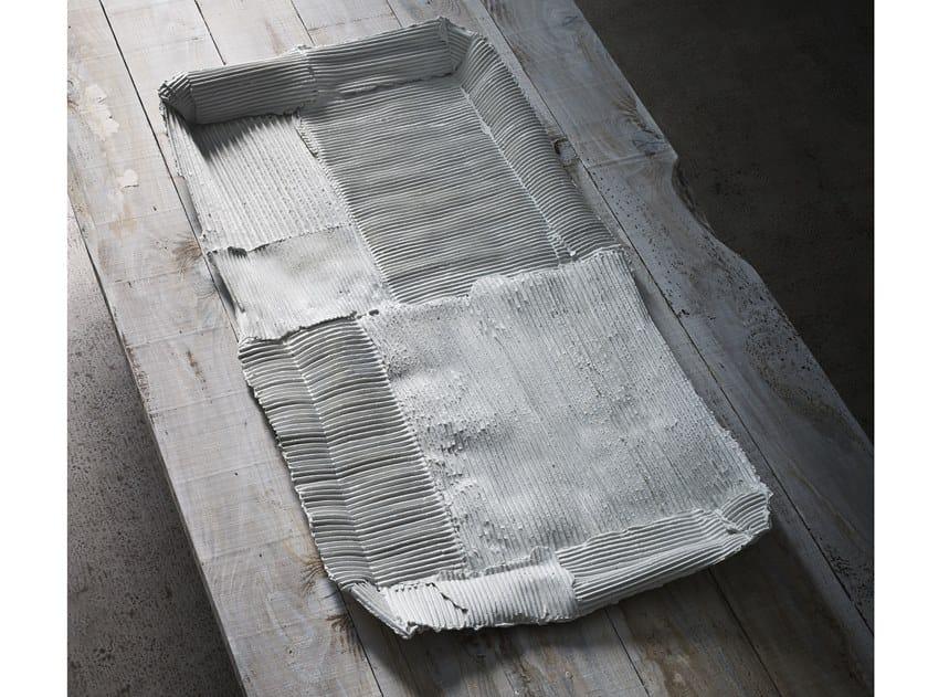 Rectangular ceramic tray TRAY by Paola Paronetto