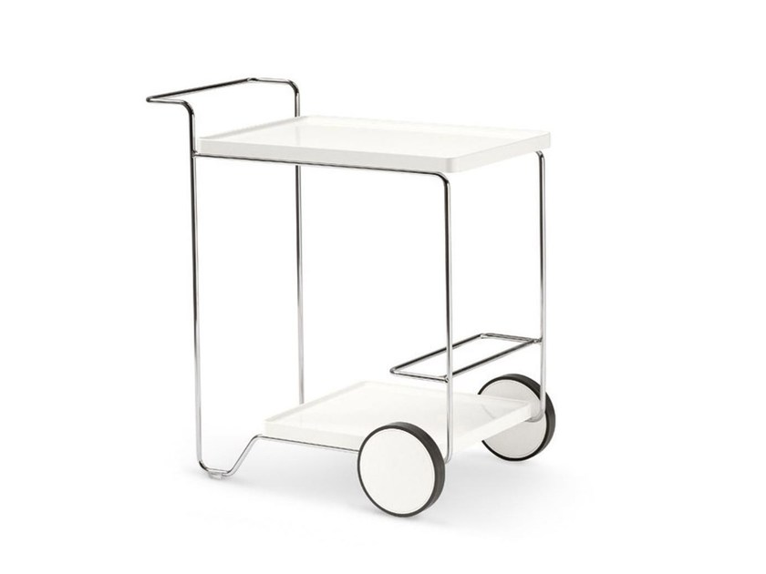 Metal Kitchen trolley TRAY ROLLER by Calligaris