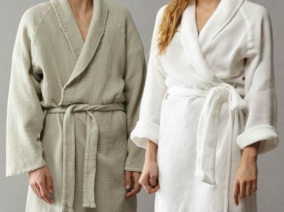 Waffle weave cotton soft robe TRE by Society Limonta