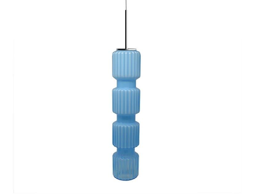 Glass pendant lamp TREA by Adriani e Rossi edizioni