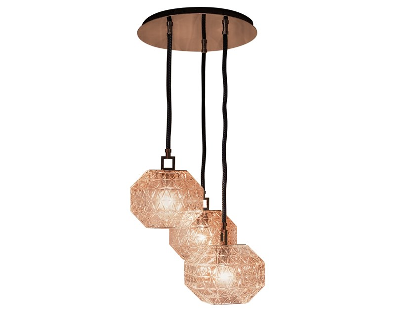 Crystal pendant lamp TREASURE DELUXE CLUSTER 3 by Contardi
