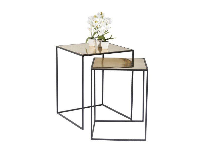 Square brass side table TREASURE GOLD by KARE-DESIGN