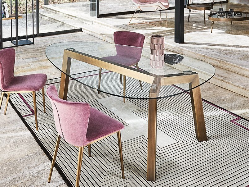 Crystal table TREBLE | Table by RIFLESSI