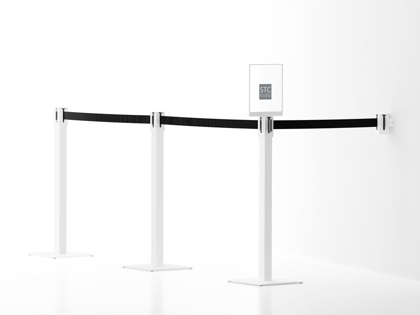 Aluminium crowd control barrier TREC by Systemtronic