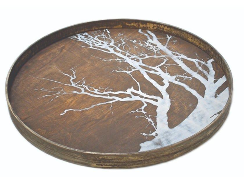 Round wooden tray TREE | Round tray by Notre Monde