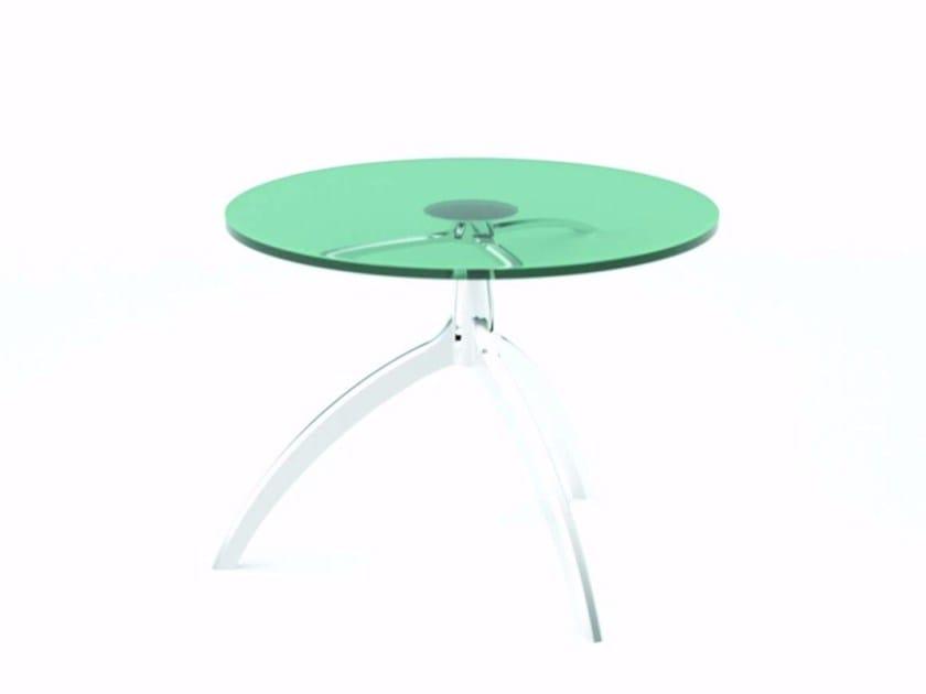 Tavolino rotondo in cristallo TREE TABLE - 951 by Alias