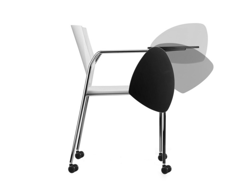 Polypropylene training chair with armrests with writing tablet TREK 038 RTDX by TALIN