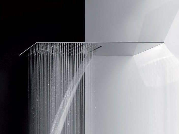 Tête de douche cascade extraplat en acier TREMILLIMETRI   Tête de douche cascade by Gessi