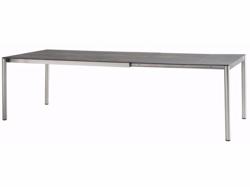 Extending rectangular ceramic garden table TREND   Extending table by solpuri