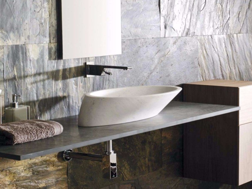 Countertop oval natural stone washbasin TREND by L'antic Colonial