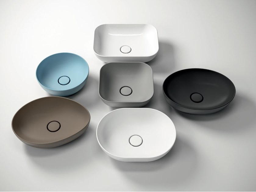 Countertop ceramic washbasin TREND by Olympia Ceramica