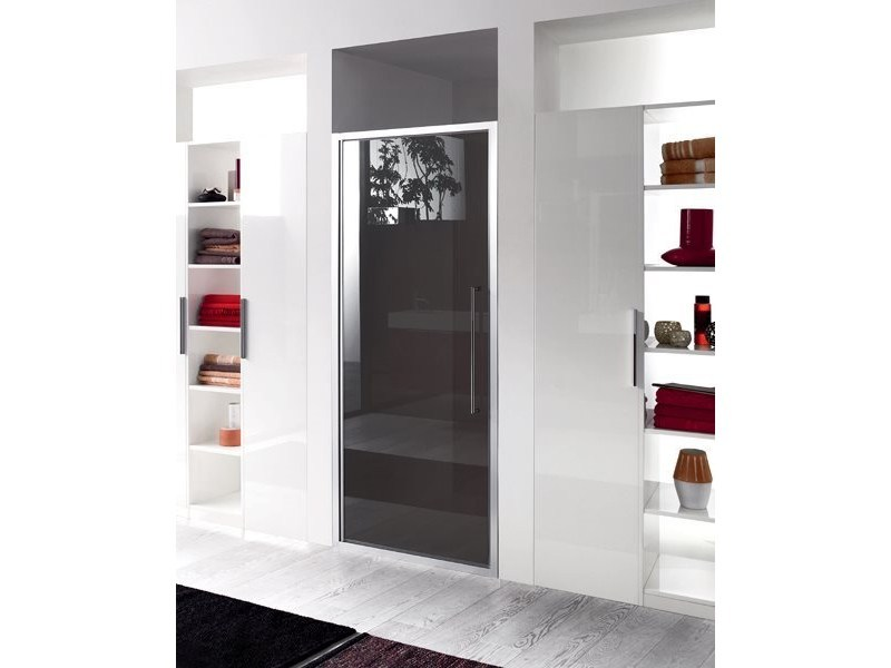 Niche glass shower cabin with hinged door TRENDY - 6 by INDA®