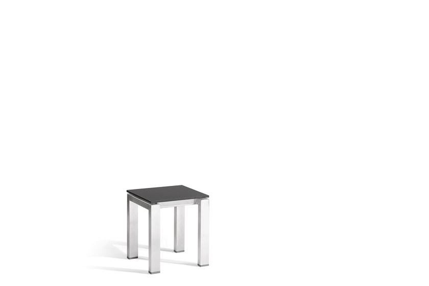Square steel garden side table TRENTO | Side table by MANUTTI