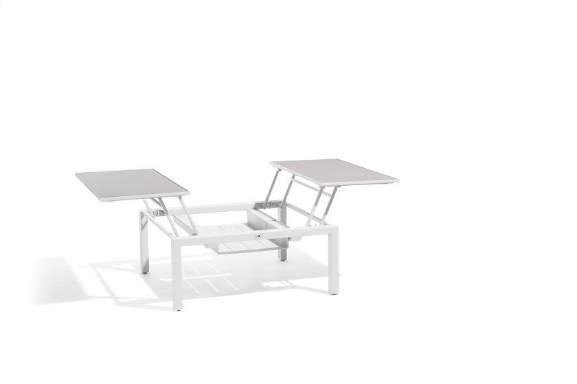 Extending Square garden side table TRENTO TIP-UP | Lounge table for 2 by MANUTTI