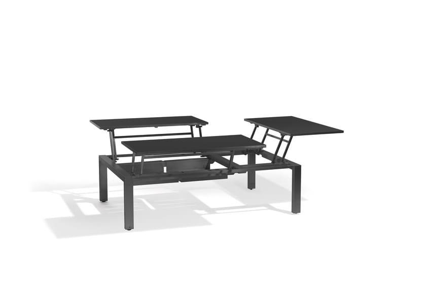 Extending Rectangular garden side table TRENTO TIP-UP | Lounge table for 3 by MANUTTI