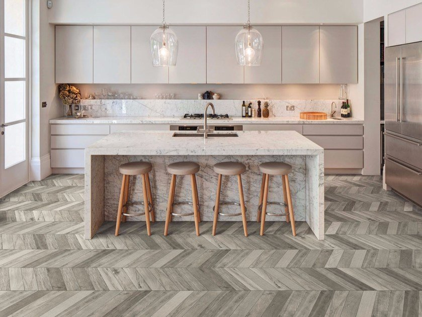 Porcelain Stoneware Flooring With Wood Effect