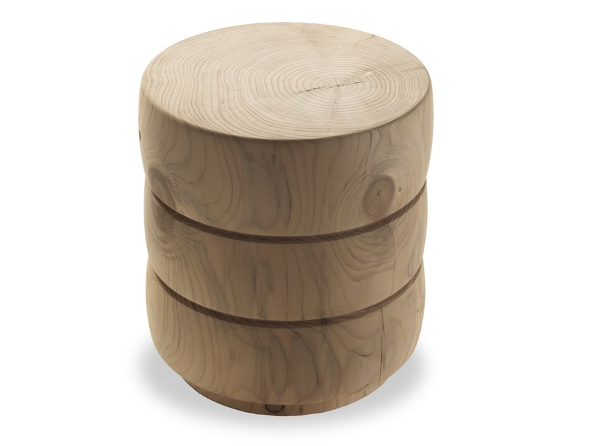 Cedarwood stool TRI by Riva 1920