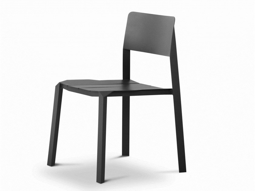 Stackable aluminium chair TRI TUBE | Chair by Specimen Editions