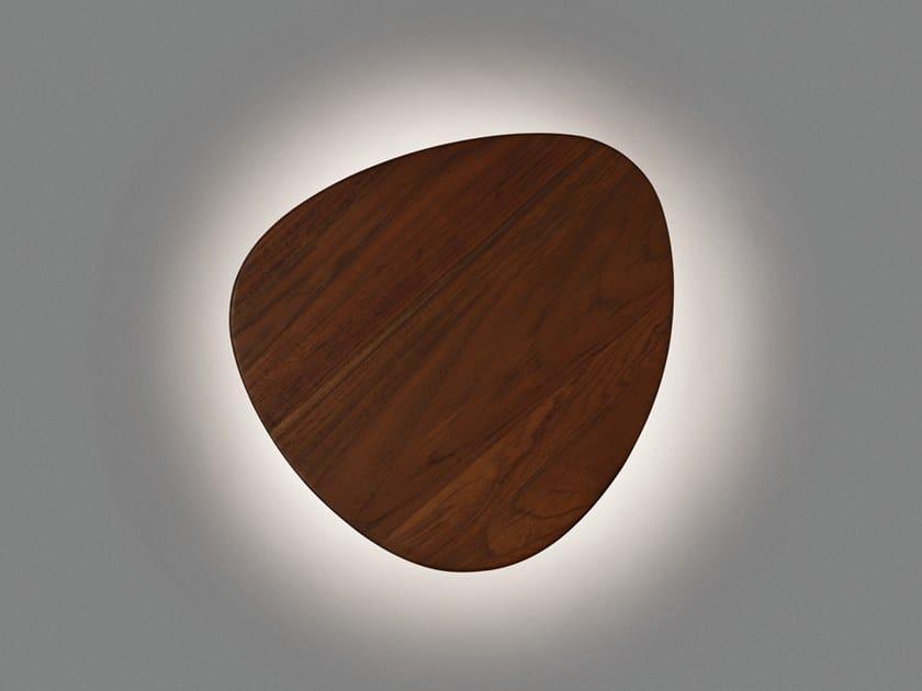 Applique per esterno a LED in legno o alluminio TRIA 04 OUTDOOR by BOVER
