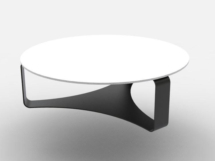 Low Round Cement Coffee Table Trial By Manufatti Viscio