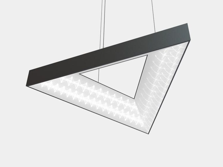 LED aluminium pendant lamp TRIANGLE by ES-SYSTEM