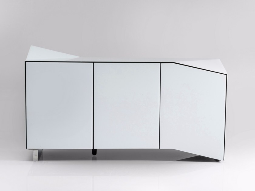 MDF sideboard with doors TRIANGLE WHITE by KARE-DESIGN