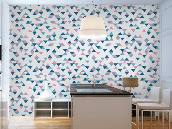 Motif washable vinyl wallpaper TRIANGLES by GLAMORA