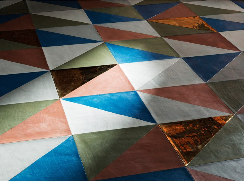 Terracotta wall/floor tiles TRIANGOLI by Palazzo Morelli
