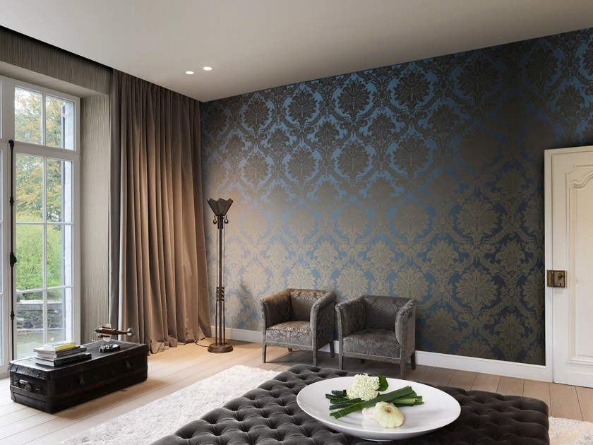 Fabric wallpaper TRIANON DAMASK by Omexco