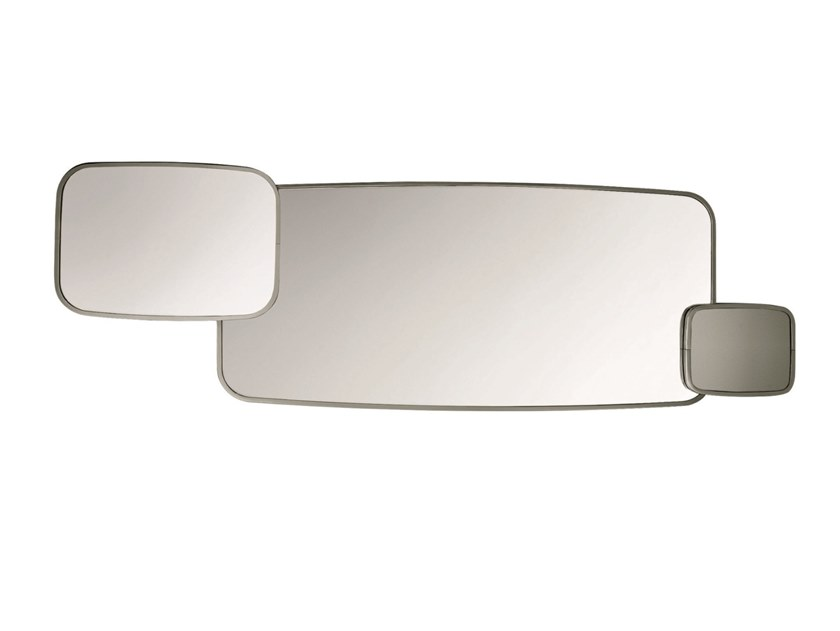 Wall-mounted chrome plated mirror TRIANON by Specimen Editions