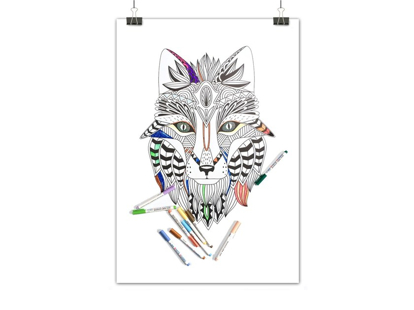 Lavagnetta magnetica TRIBAL FOX by Groovy Magnets